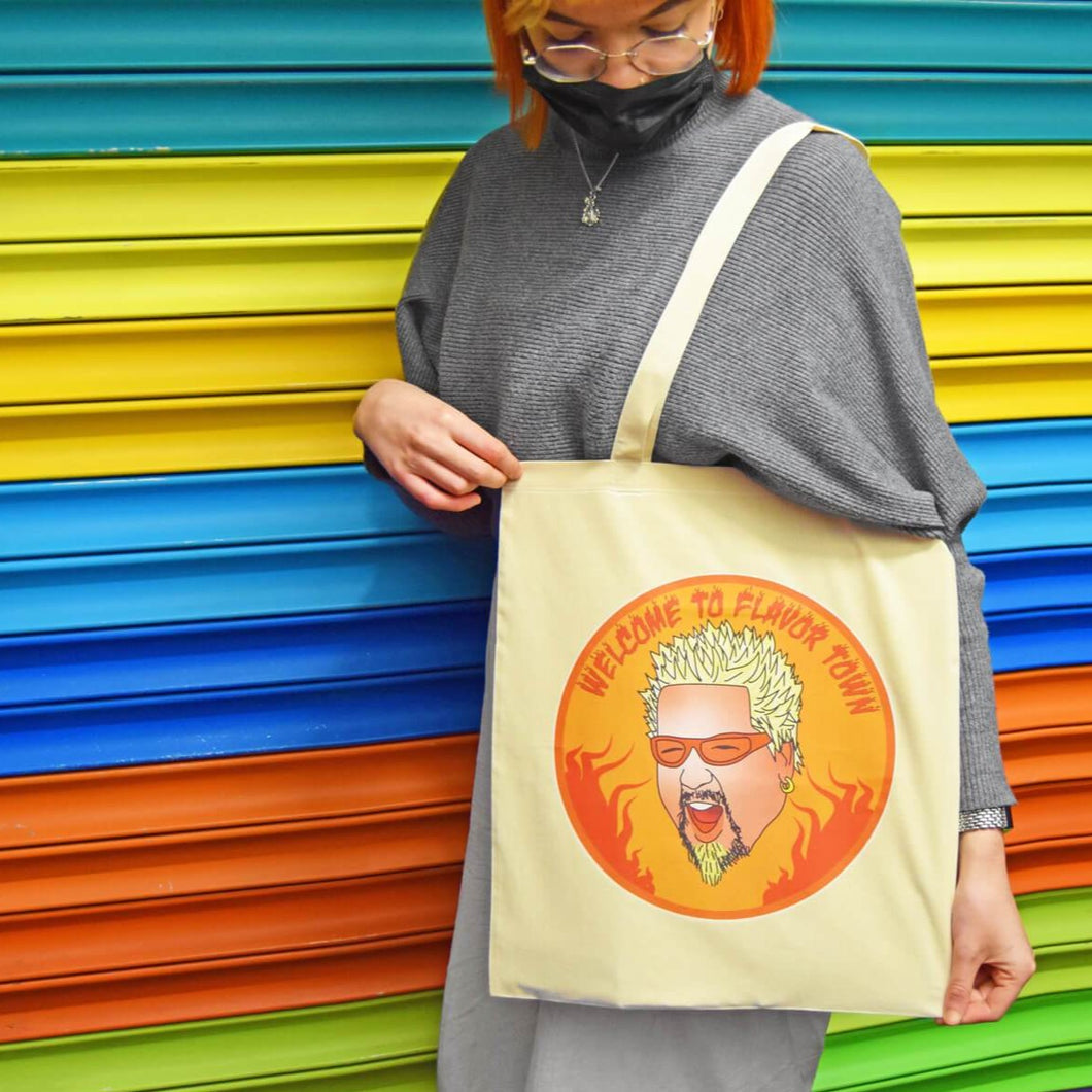 Guy Fieri Welcome to Flavor Town Tote Bag - Shop Luna