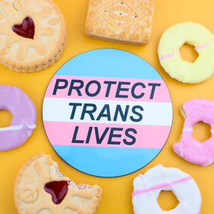 Protect Trans Lives Coaster - Luna