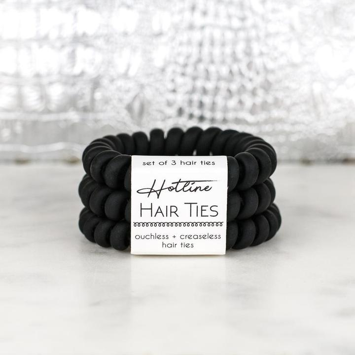 HOTLINE HAIR TIES - BLACK MATTE SET