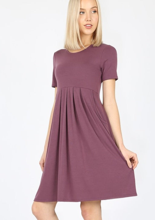 Hey BaeBae Dress - Eggplant