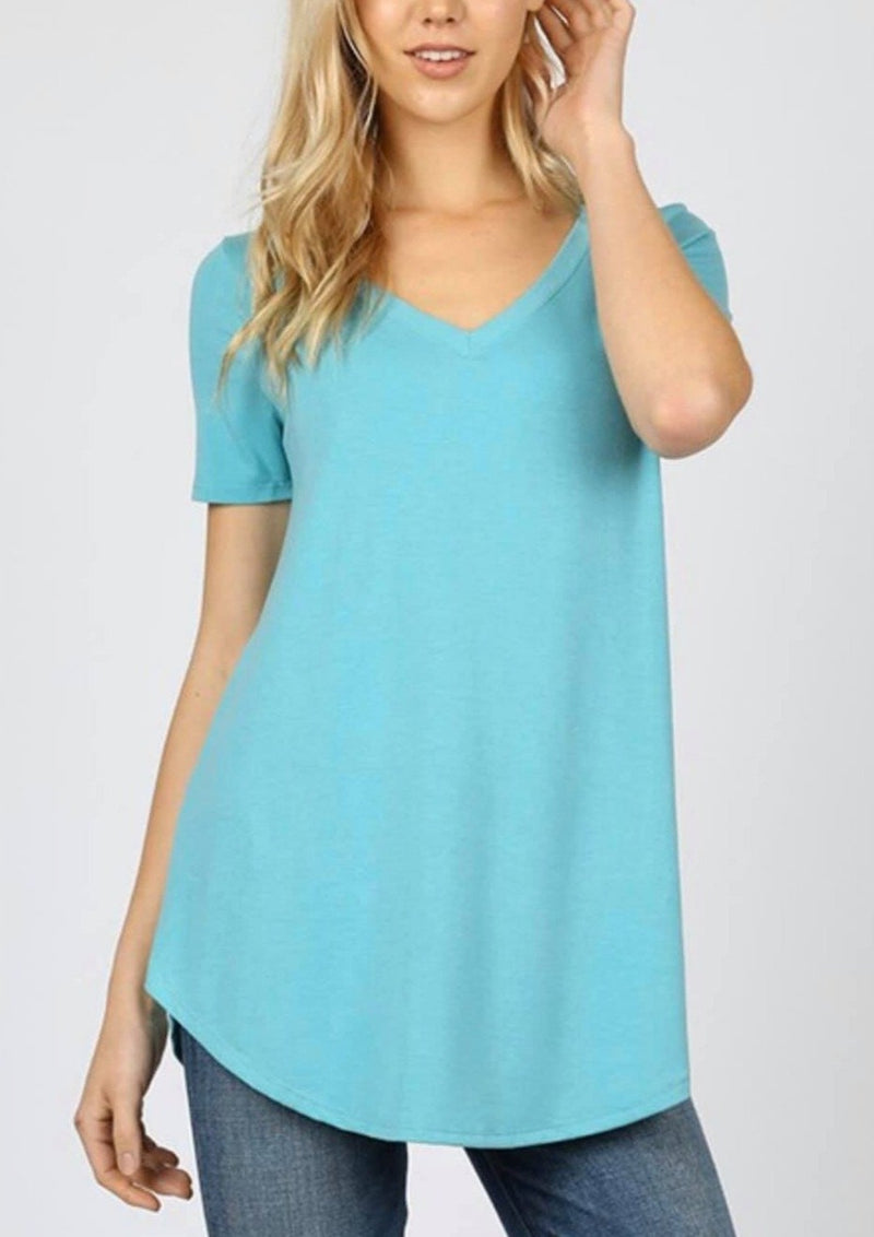 Any Day V-neck Tee - Mint