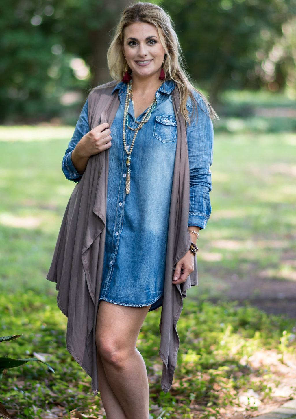 TAKE ME TO DENIM DRESS