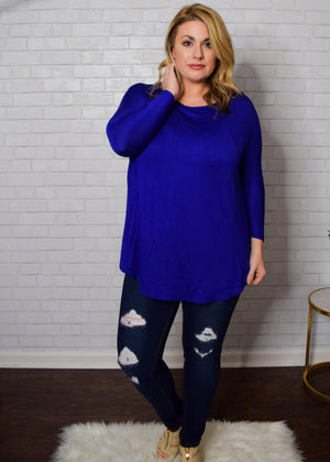 THE DEMI TOP - ROYAL BLUE