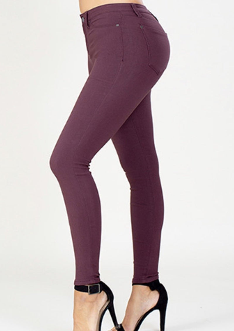 YMI Hyper Stretch Skinnies - Sangria
