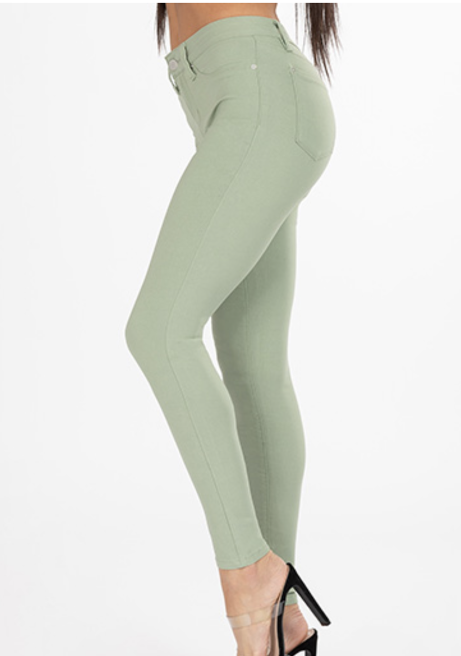 YMI Hyper Stretch Skinnies - Sage