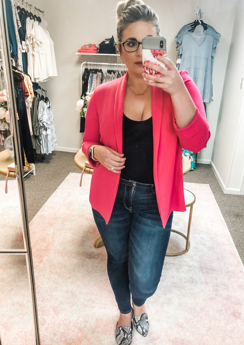 Fashion Blazer - Hot Pink