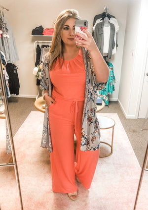 Jumpsuit - Deep Coral