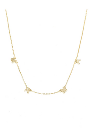 MAMA Word Necklace - Gold