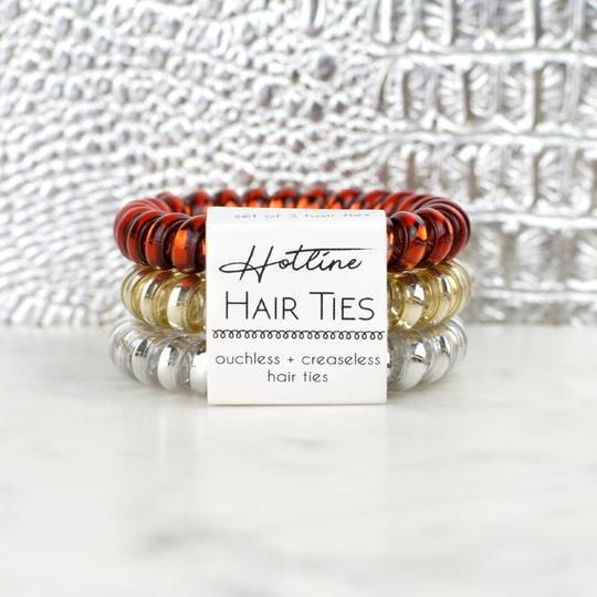 HOTLINE HAIR TIES - FIRE & GOLD SET