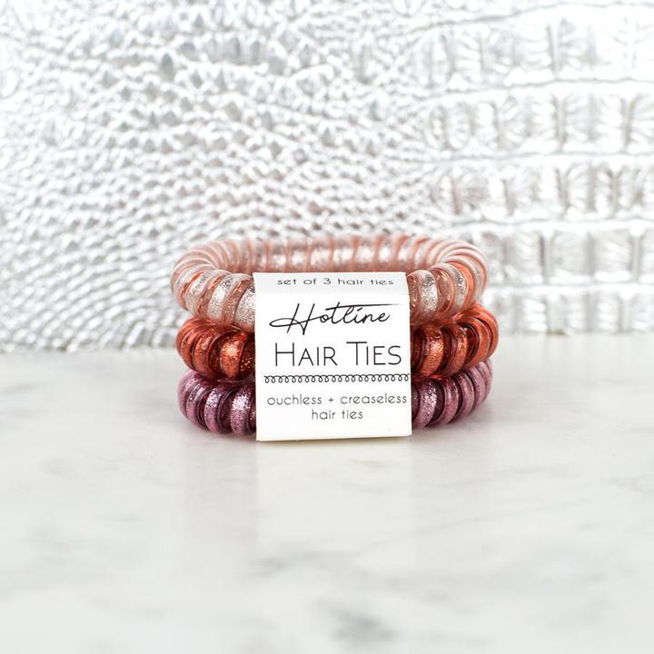 HOTLINE HAIR TIES - ROSE GOLD SET
