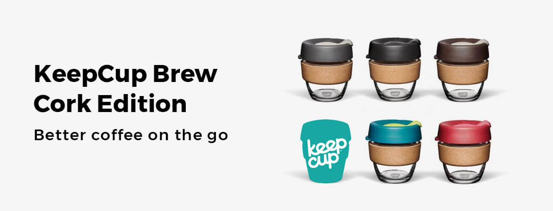 KeepCup BCSAS16 Brew Reusable Tempered Glass Cup with Cork Band 16 Fluid/_Ounces