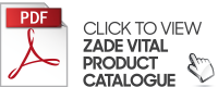 Zade Vital product catalogue