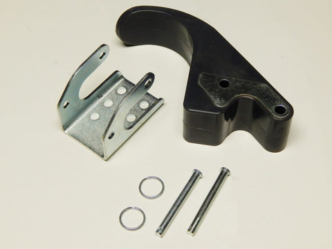 "Complete Rubber Tarp Stop with 6"" Offset - Upright, Bracket and Pins - kym-industries"