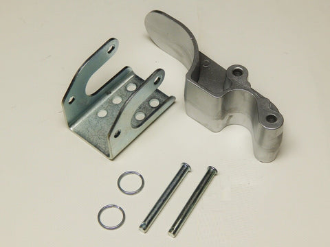 "Complete Aluminum Tarp Stop - 3"" Upright, Bracket and Pins - kym-industries"