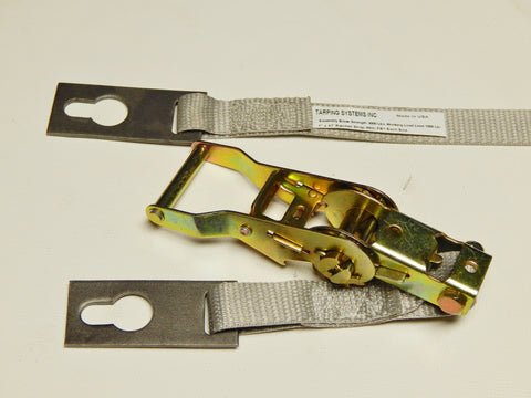 "1"" Ridge Strap and Ratchet Set with Flat Plate 46' Length - kym-industries"