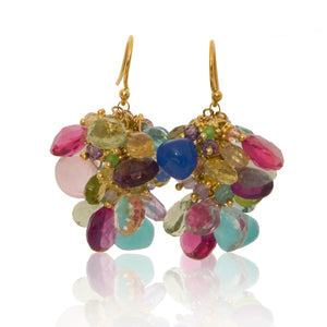 Party In Your Ears-Pastel (Assortment of multi colored semi precious stones)