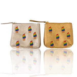 Leather Ice Cream Coin Purse
