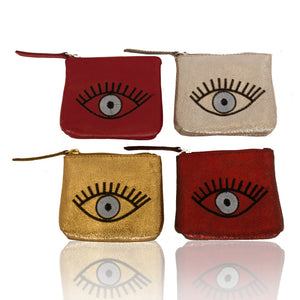 Leather Eye Coin Purse