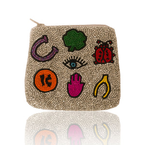 Beaded So Lucky Coin Pouch