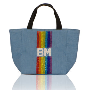 Small Tote with Custom Initials Or Name