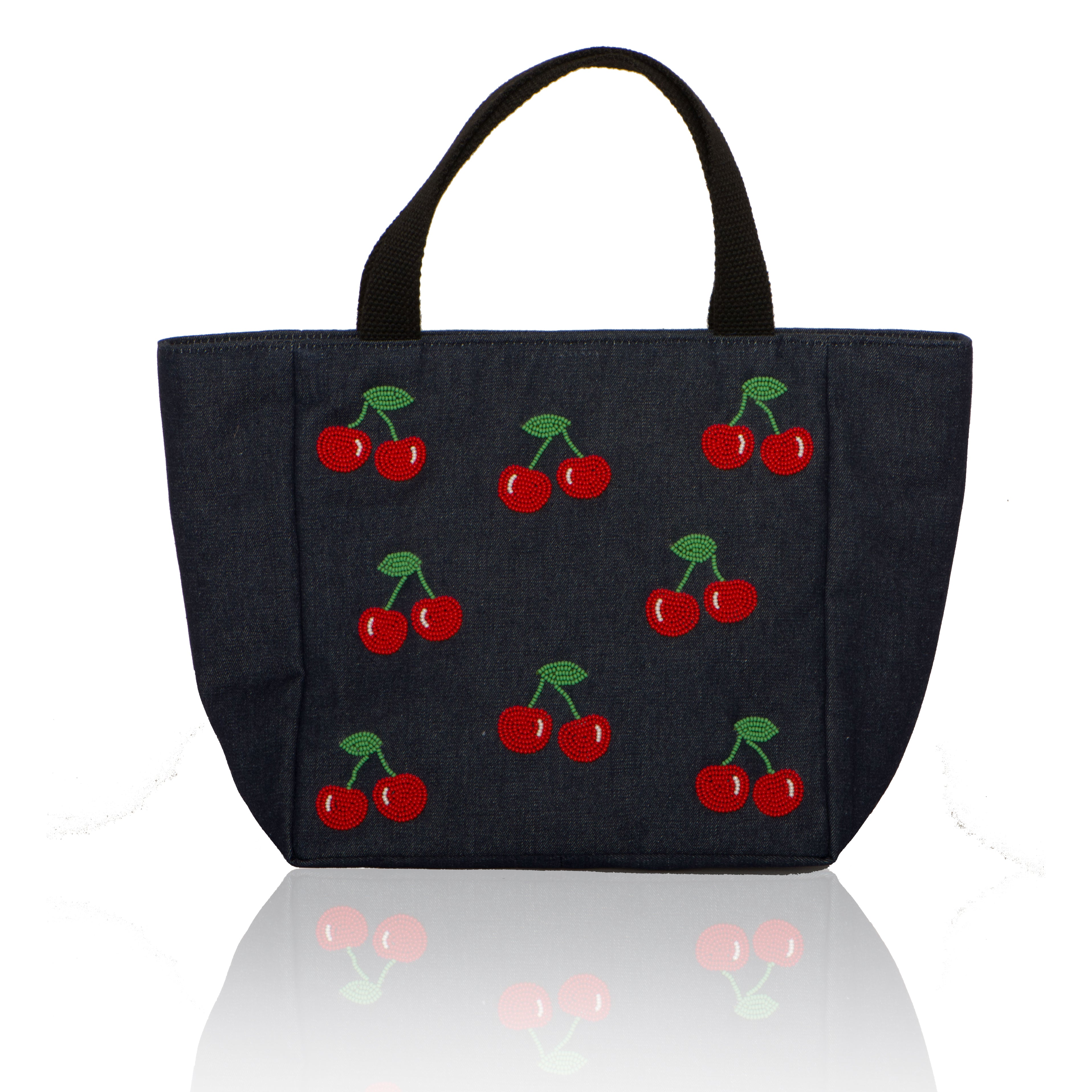 Small Tote with Cherries