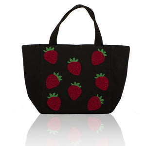 Small Tote with Strawberries