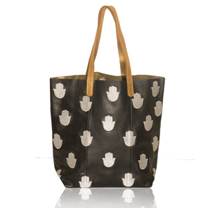 Leather N/S Hamsa Tote