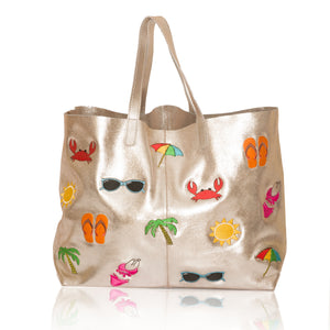 Vacation E/W Leather Tote
