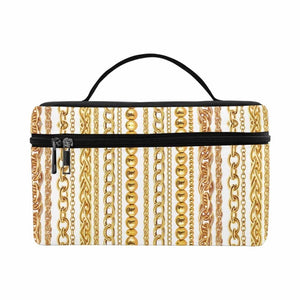 Gold Chain Travel Bag (White)