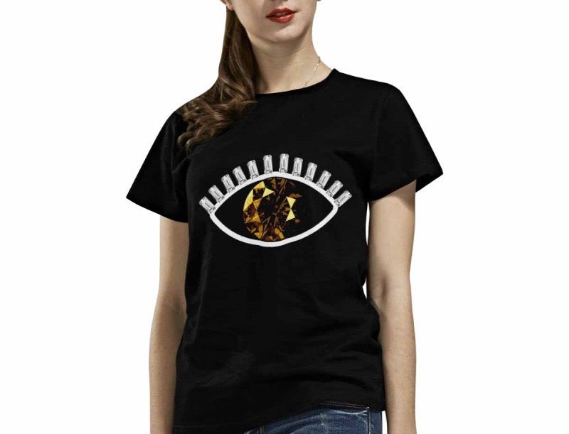Smokey Topaz Evil 👁 T-Shirt (Black)