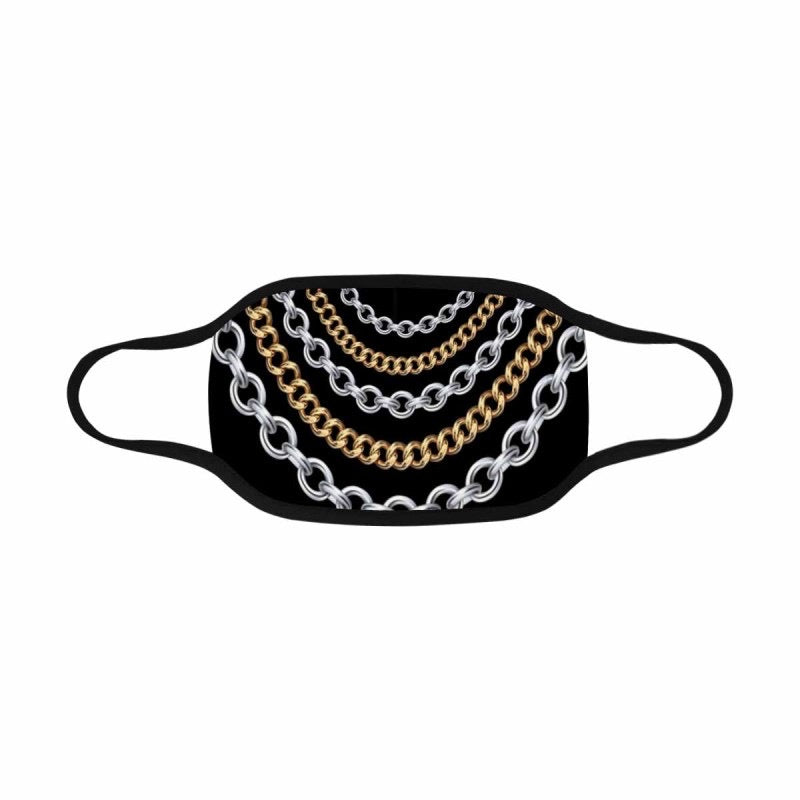 Two-Toned Chain Mask (Black)