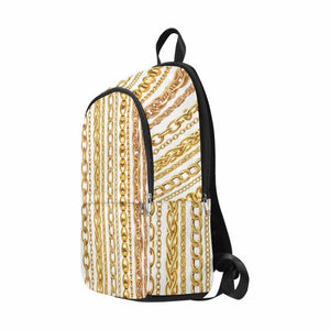 Gold Chain Backpack (White)