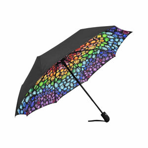 """You are a GEM"" Rainbow Gemstone Automatic Umbrella (Black)"