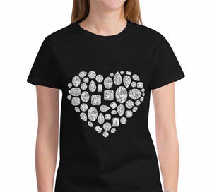 💎 Heart T-Shirt (Black)
