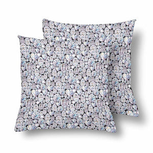 Hand Painted Diamond Pillowcase-set of 2