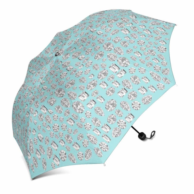 """You are a GEM"" 💎 Umbrella (Robin Egg Blue)"