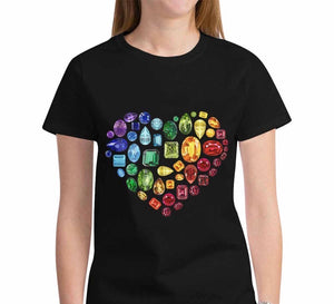 🌈 Gem Heart T-Shirt (Black)
