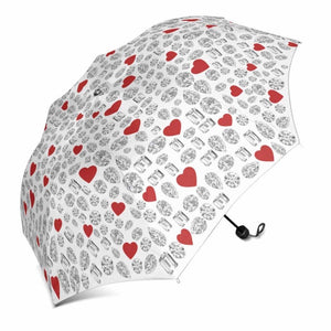 Diamond and ❤️ Umbrella (White)
