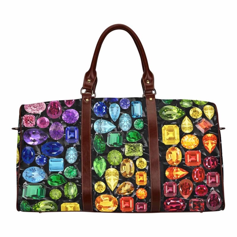 Small Rainbow Gemstone Duffel (Black)