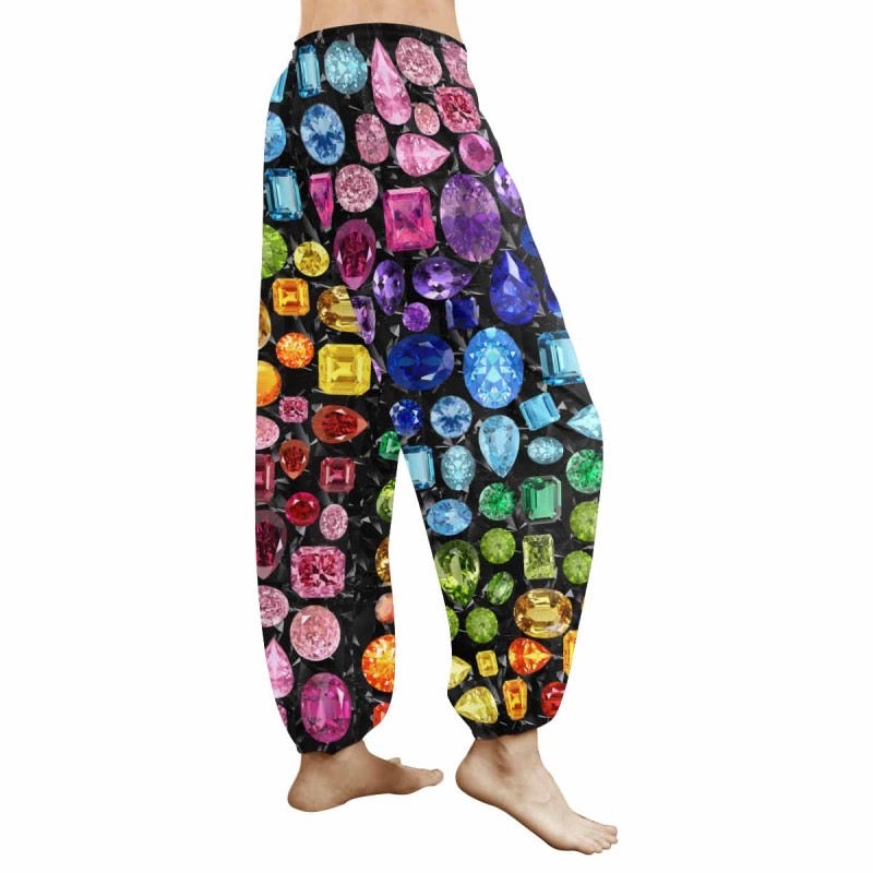 Rainbow Gemstone Sweatpants (Black)
