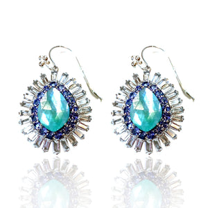 Mexican Turquoise with Moonstone, Tanzanite and White Topaz