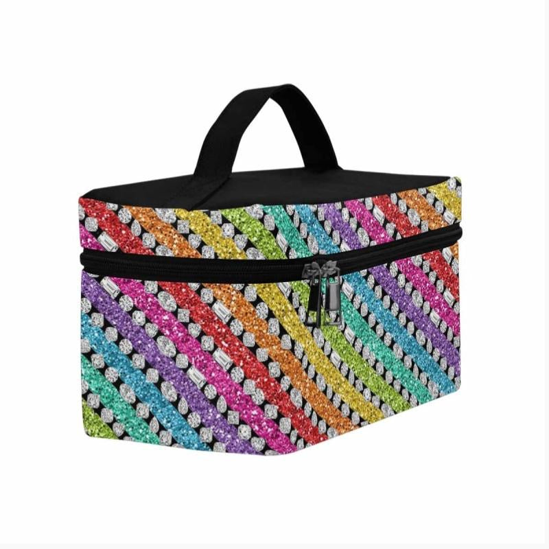 Rainbow Glitter 💎 Cosmetic Travel Bag