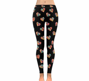 """Jellybean Heart"" Leggings (Black)"