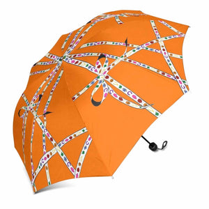 """Lucky Charm Ribbon"" Umbrella (Orange)"