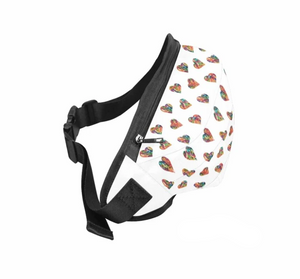 """Jellybean Heart"" Belt Bag (White)"