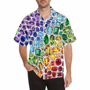 Gemstone Hawaiian Shirt (White)