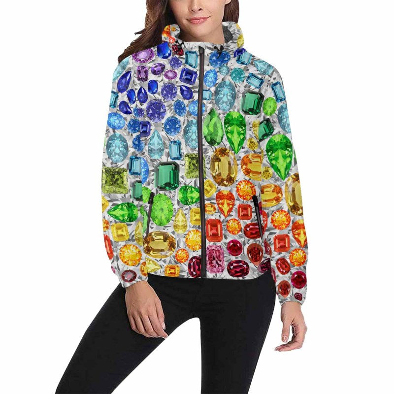 Rainbow Gemstone Jacket (White)