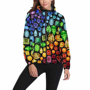 Rainbow Gemstone Jacket (Black)