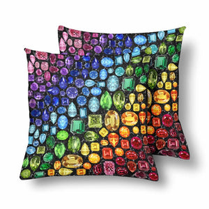Rainbow Gem Pillowcase -set of 2