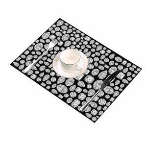 Diamond Placemats (Black)-set of 2